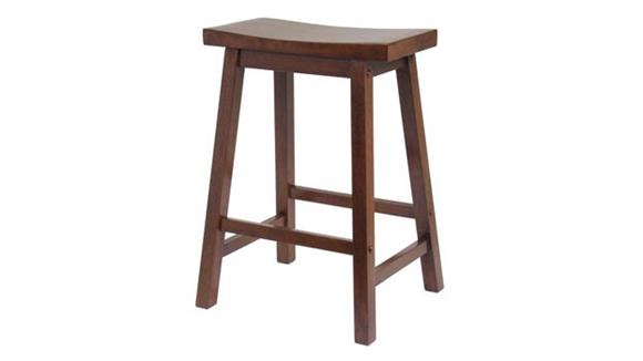 "Counter Stools Winsome Saddle Seat 24"" Stool"