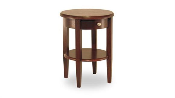 End Tables Winsome Concord Round End Table with Drawer and Shelf