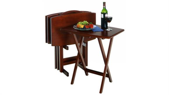 Occasional Tables Winsome 5 Piece Oversize TV Table