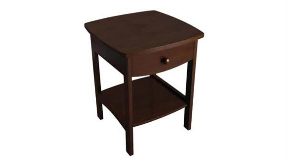 Night Stands Winsome Curved End Table/Night Stand with One Drawer