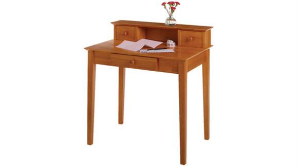 Writing Desks Winsome Studio Writing Desk with Hutch