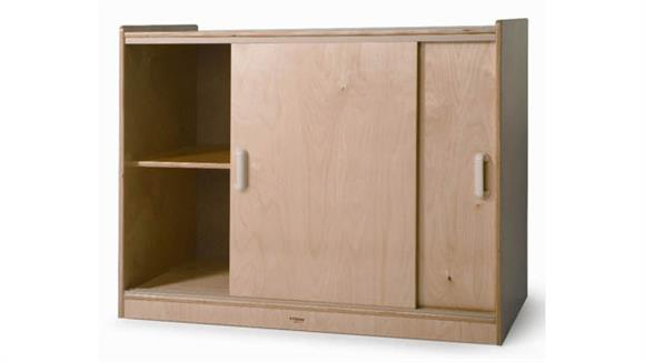 Storage Cabinets Whitney Brothers Sliding Door Storage Cabinet