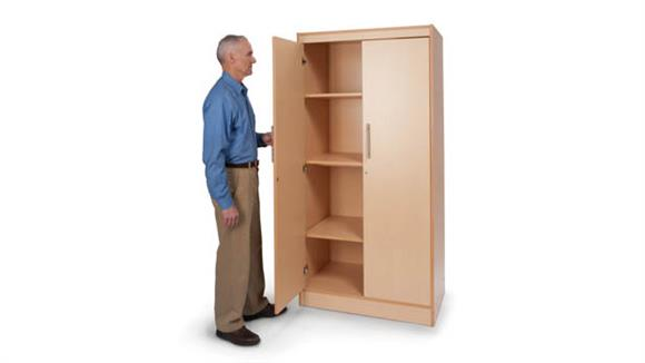 Storage Cabinets Whitney Brothers Tall & Wide Storage Cabinet