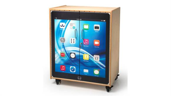Storage Cabinets Whitney Brothers Tablet Storage Cabinet with Desktop Image