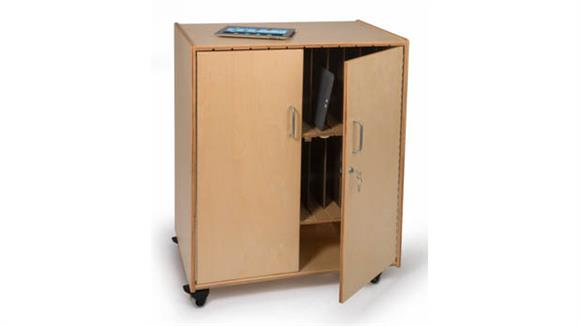 Storage Cabinets Whitney Brothers Tablet Storage Cabinet