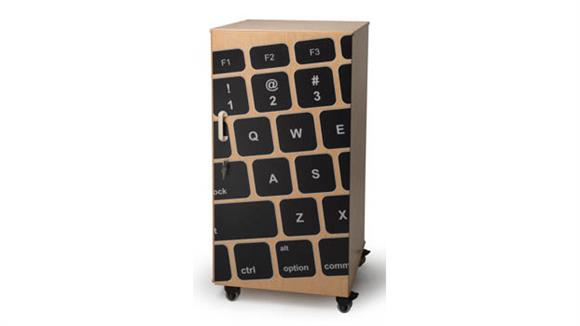 Storage Cabinets Whitney Brothers Laptop Security Cabinet with Keyboard Image