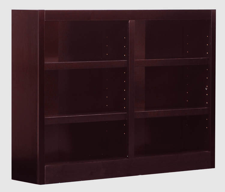 6 Shelf Double Wide Bookcase By Concepts In Wood