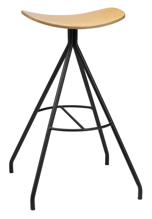 Barstool with Laminate Seat by KFI Seating