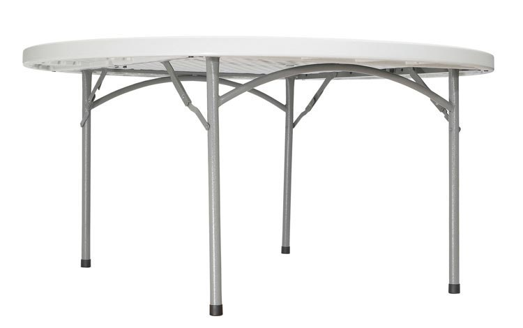 60in Round Lightweight Folding Table by National Public Seating