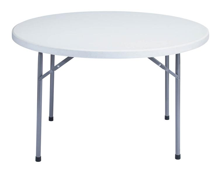 48 Round Lightweight Folding Table by National Public Seating