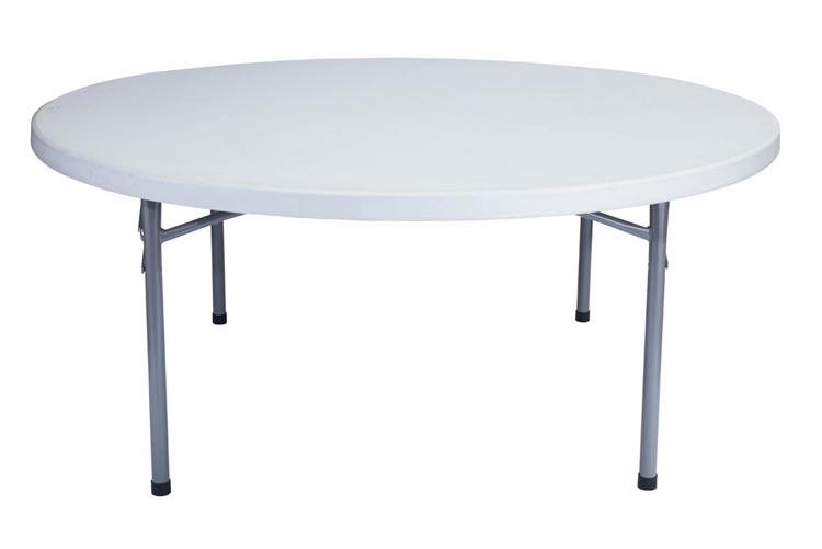 71 Round Lightweight Folding Table by National Public Seating