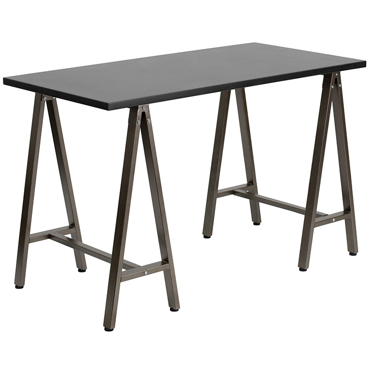 Computer Desk with Brown Frame by Innovations Office Furniture