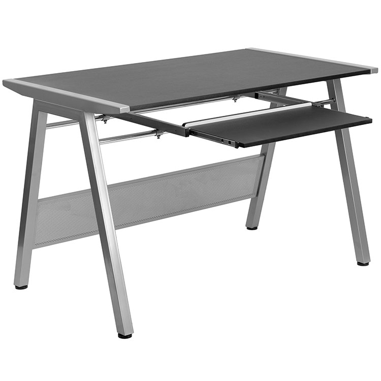 Computer Desk with Keyboard Tray by Innovations Office Furniture