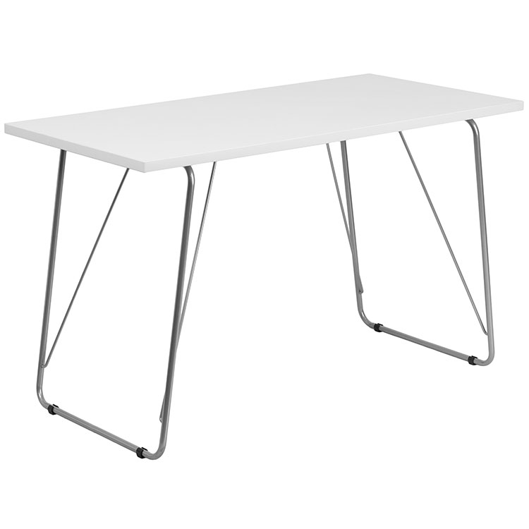 Computer Desk with Silver Frame by Innovations Office Furniture