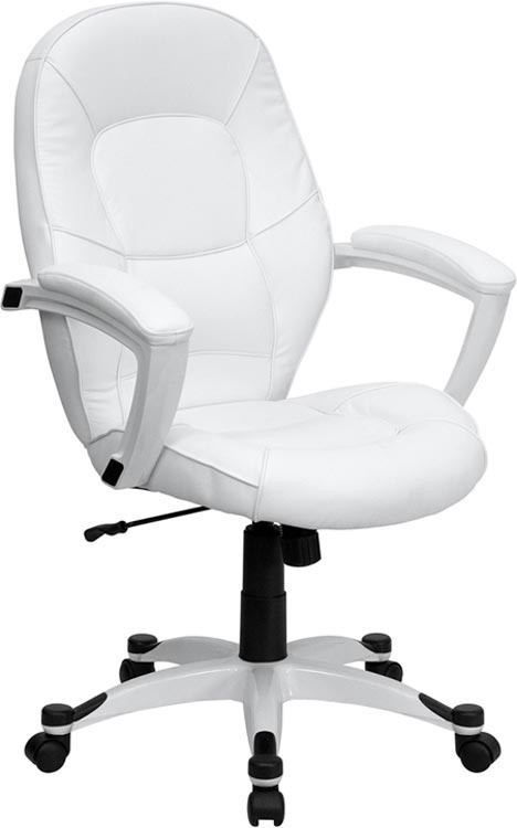 White Mid Back Executive Office Chair by Innovations Office Furniture