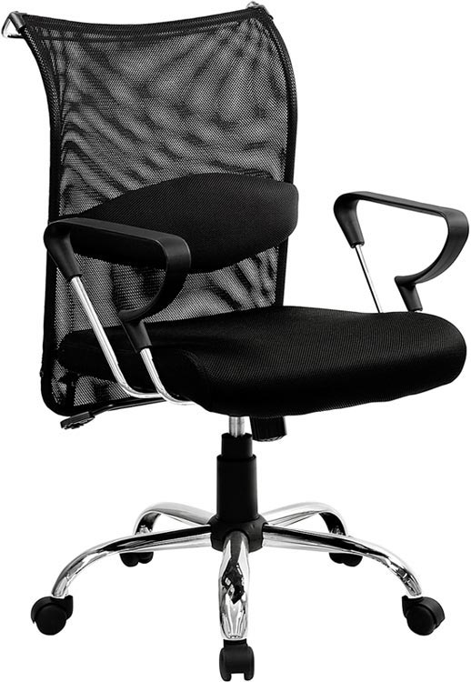 Mid Back Managers Chair with Mesh Back and Seat by Innovations Office Furniture