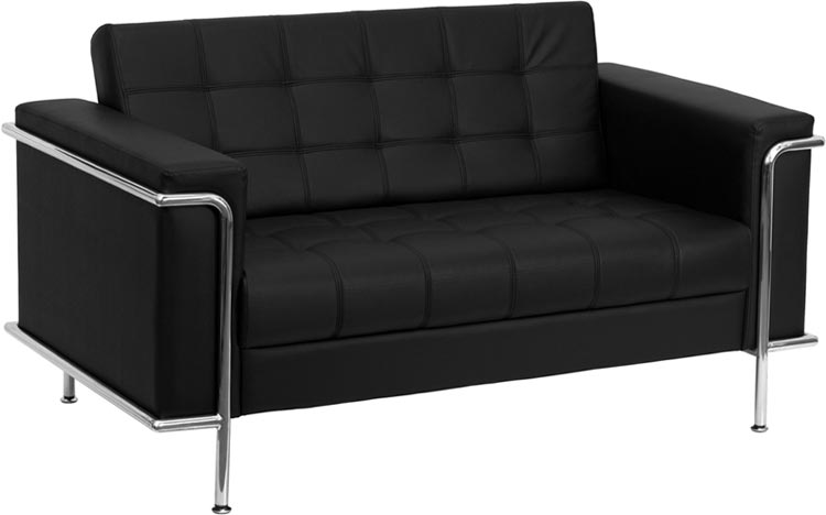 Leather Reception Loveseat by Innovations Office Furniture