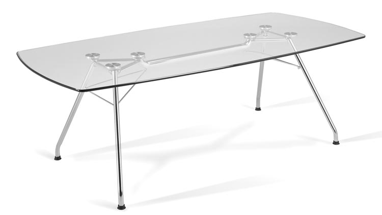 """77"""" x 39"""" Glass Conference Table by OFM"""