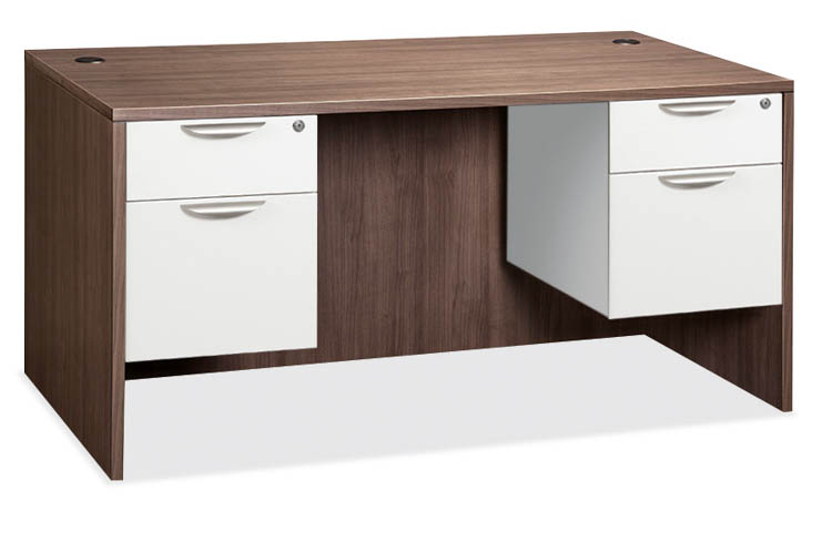 """60"""" Double Pedestal Desk by Office Source Office Furniture"""