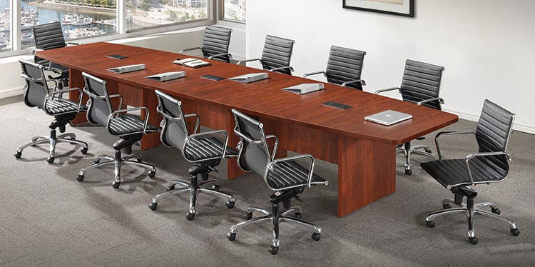 16' Boat Shaped Conference Table by Office Source Office Furniture