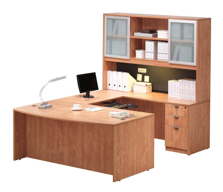 U Shaped Desk with Hutch by Office Source Office Furniture