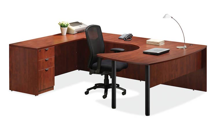 Arc Top U Shaped Desk by Office Source Office Furniture