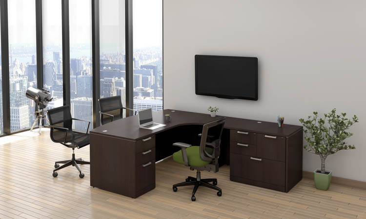 L Shaped Desk by Office Source Office Furniture