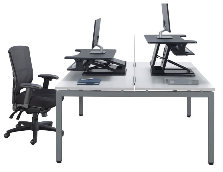 Double Desk Unit by Office Source Office Furniture