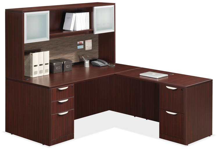 L Shaped Desk with Hutch by Office Source Office Furniture