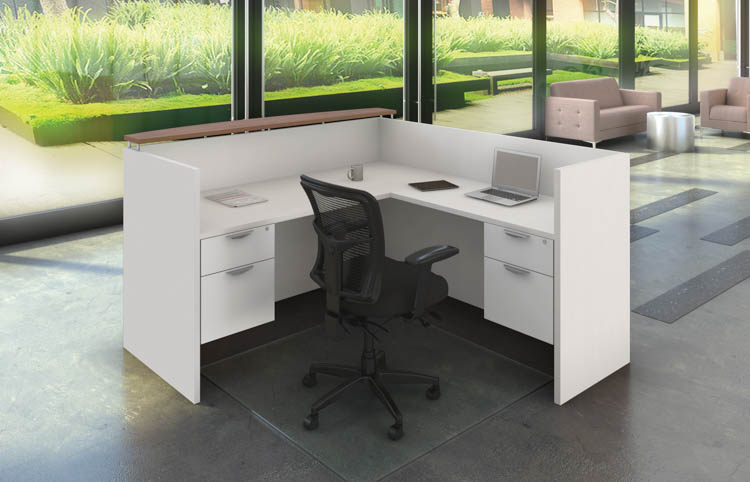 L Shaped Reception Desk Unit by Office Source Office Furniture