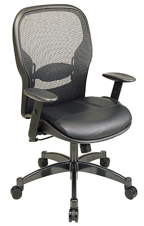 Professional Matrex Back Chair with Leather Seat by Office Star