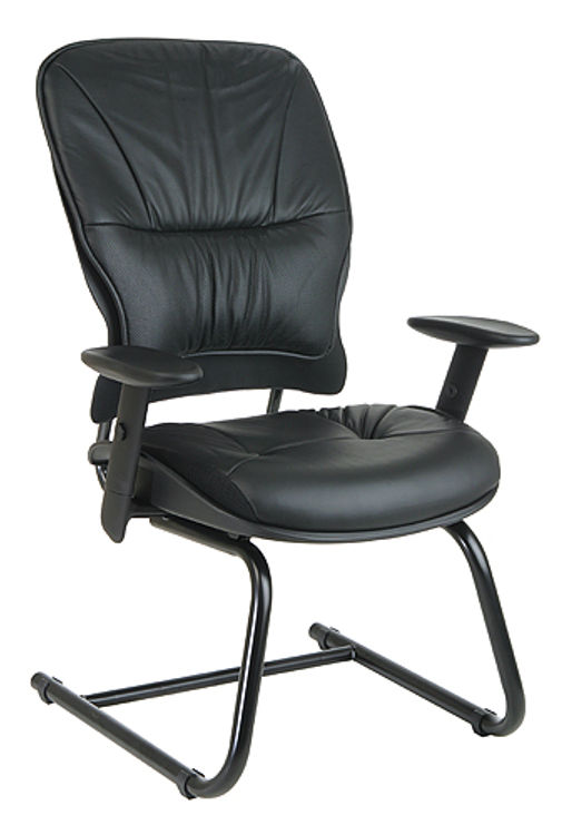 Sled Base Leather Managers Chair by Office Star