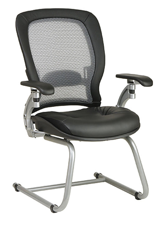 Professional Air Grid Back Visitors Chair by Office Star