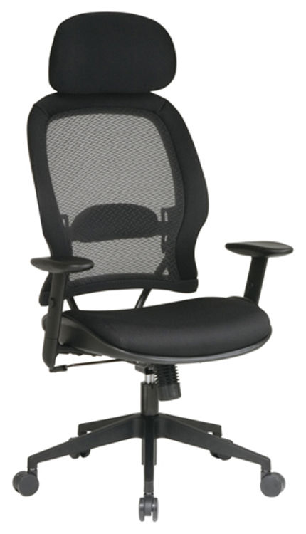 Professional Air Grid Chair with Adjustable Headrest by Office Star