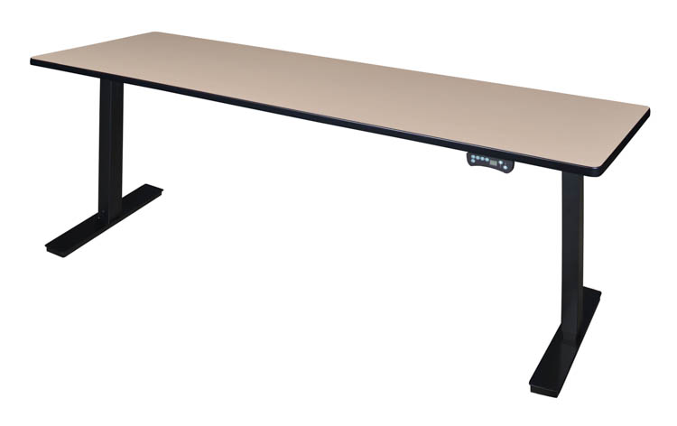 Picture of 84 x 24 Height-Adjustable Power Desk by Regency Furniture