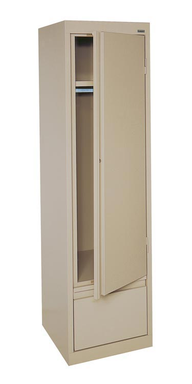 Single Drawer Wardrobe Cabinet with File Drawer by Sandusky Lee