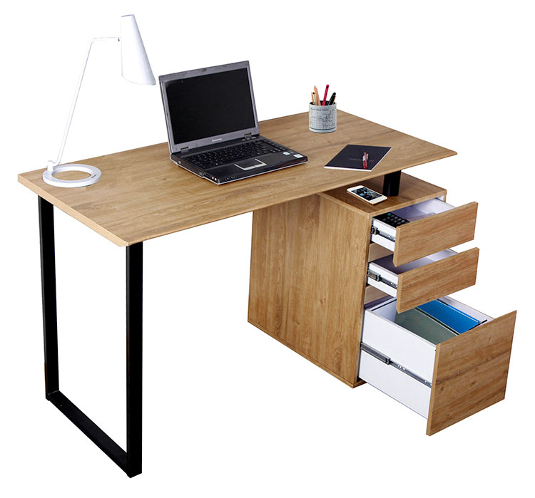 Computer Desk with Storage and File Cabinet by Techni Mobili