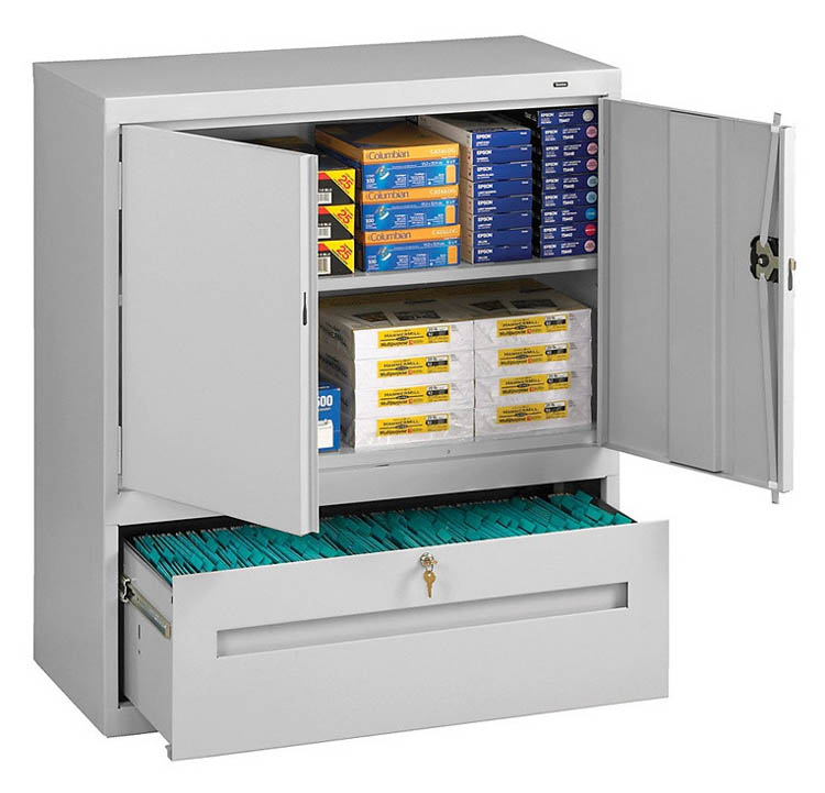 "42""H Storage Cabinet with File Drawer  by Tennsco"