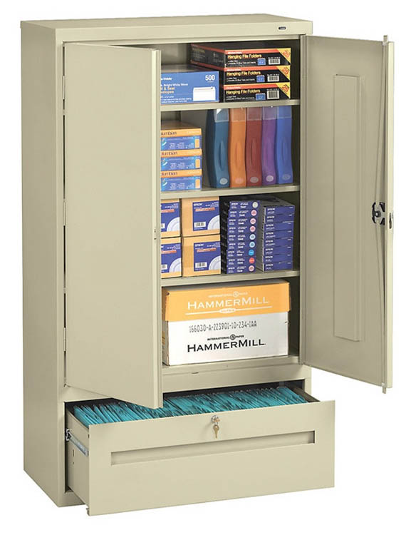"64""H Storage Cabinet with File Drawer by Tennsco"