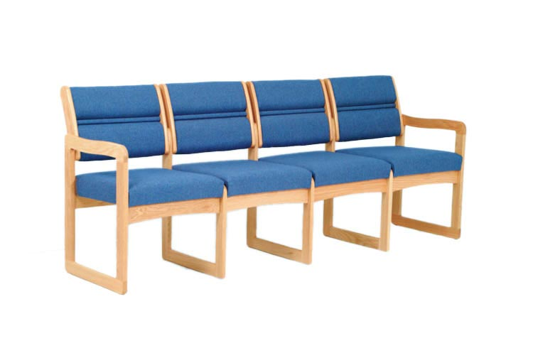 Quadruple Sled Base Sofa by Wooden Mallet