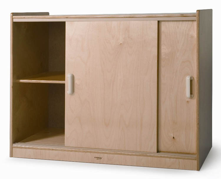 Sliding Door Storage Cabinet by Whitney Brothers
